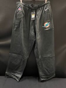 MIAMI DOLPHINS NIKE TEAM ISSUED THERMA-FIT TRAVEL SWEAT PANTS BRAND NEW SIZE-4XL