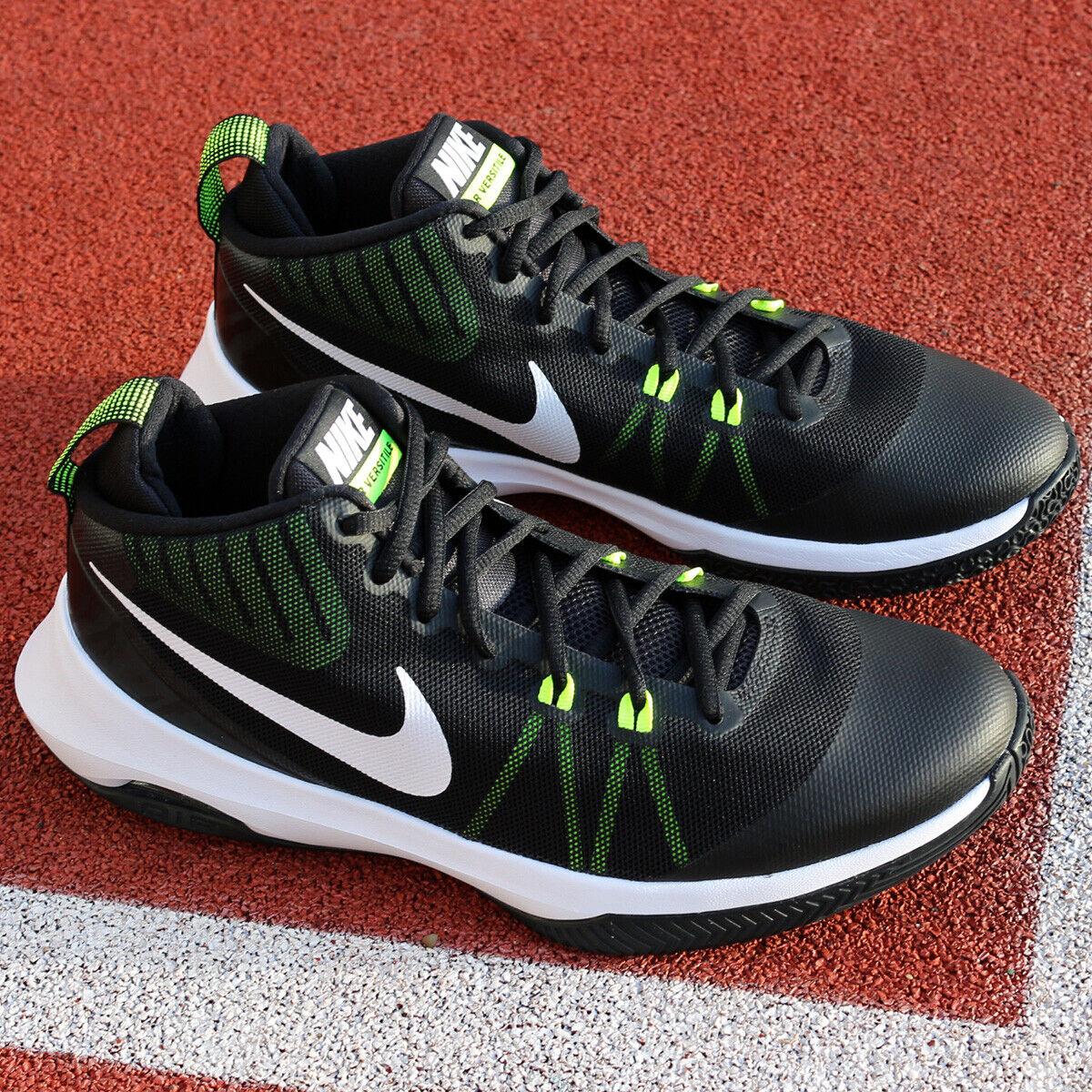 NIKE VERSITILE 852431-009 Baloncesto Zapatos al Aire Libre AIR Interior Negro blancoo Nuevo Ds