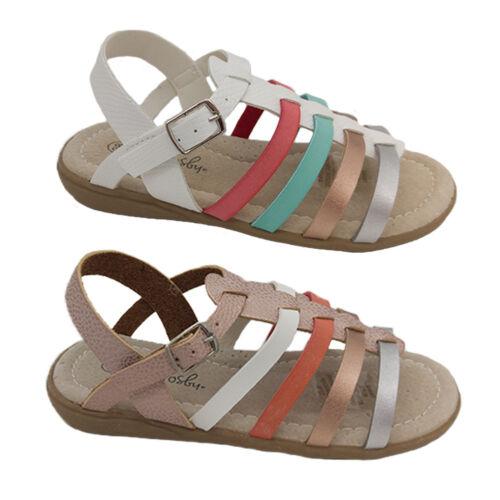 Girls Sandals Grosby Sammy Strappy Sandal Slingback Multi Colours Size 7.5-13