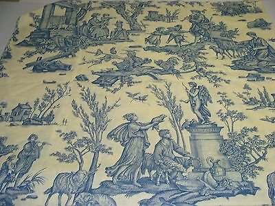 HINSON Offrande A L'Amour Blue TOILE Designer Fabric Remnant 29x28 Crafting