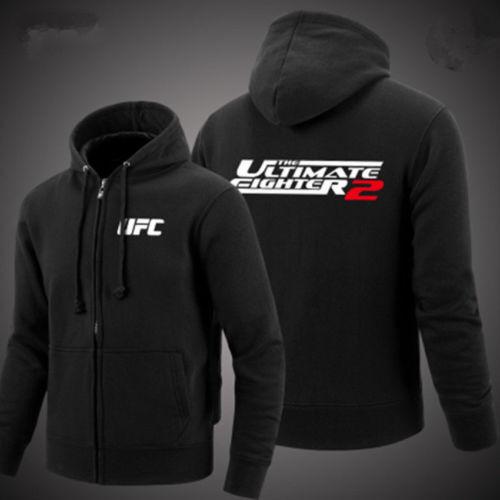 The UFC combat sports training zipper fleece clothing Jacket Cardigan hoodies