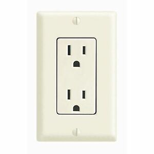 Leviton Almond Decora Receptacle Duplex Outlet 15 Amp