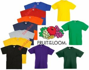 KIDS-ADULTO-RAGAZZA-RAGAZZO-COTONE-pesante-tinta-unita-TAPPO-T-SHIRT-MANICA-CORTA-School-Uniform