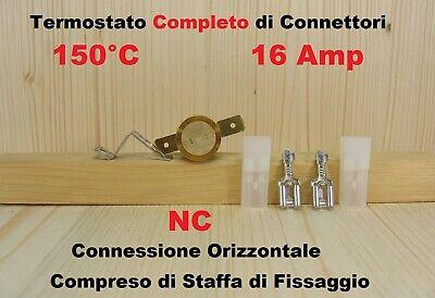 Termostato di sicurezza a pastiglia 150°C contatto NC Campini ty60 16A 250V