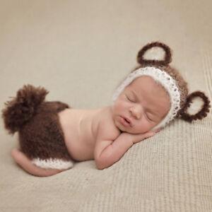 eca46865fdd Image is loading Soft-Mohair-Newborn-Photography-Props-Costumes-Ear-Bear-