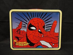 1998 Marvel The Amazing Spider-Man Metal Lunch Box E1