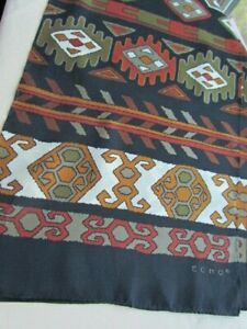 ECHO-Silk-Scarf-Abstract-Native-American-Southwest-Indian-Folk-Art-Motif