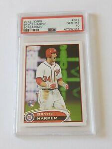2012 Topps Bryce Harper Screaming RC #661 PSA 10 Gem Mint Rookie Card