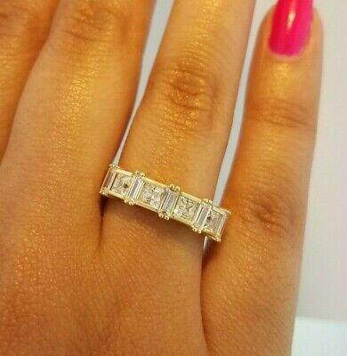Diamond Discreet 1 Ct Princess Cut Diamond Engagement Wedding Ring 14k Solid Yellow Gold More Discounts Surprises
