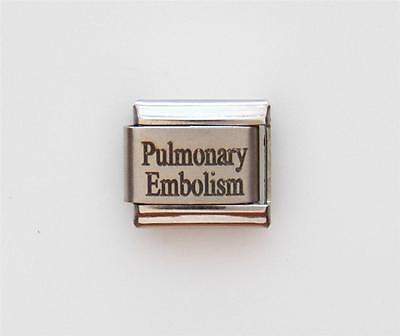 Pulmonary Embolism Laser Medical Charm for an Italian Charm Bracelets Free Card