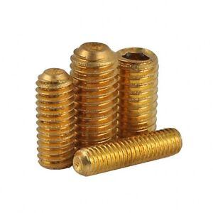 M3 x 3mm Grub Screw Cup Point Hex Socket Set Screws GB//T Solid Brass