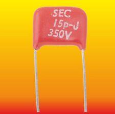 15 pF 350 V LOT OF 2 LEMCO SEC SILVER-MICA CAPACITORS