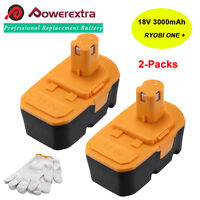 2 Pack For Ryobi One Plus One+ 18v Volt 3000mah Compact Nimh Battery P100