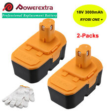2 Pack For Ryobi ONE PLUS ONE+ 18V Volt 3000mAh Compact NiMH Battery P100 NEW