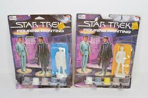 Star-Trek-Figurine-Painting-Set-of-2-Admiral-Kirk-amp-Mr-Spock-1979-Whiting-SEALED