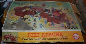 Vintage-MARX-Fort-Apache-Playset-3681-W-Box