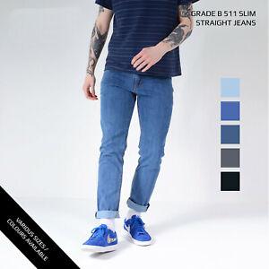Levi/'s 511 Men/'s Jeans Slim Fit Straight Leg Stretch Denim W30 W32 W34 W36 W38