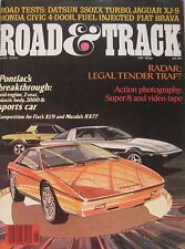 Road & Track magazine 05/1981 featuring Datsun 280ZX, Jaguar, Honda, Bentley