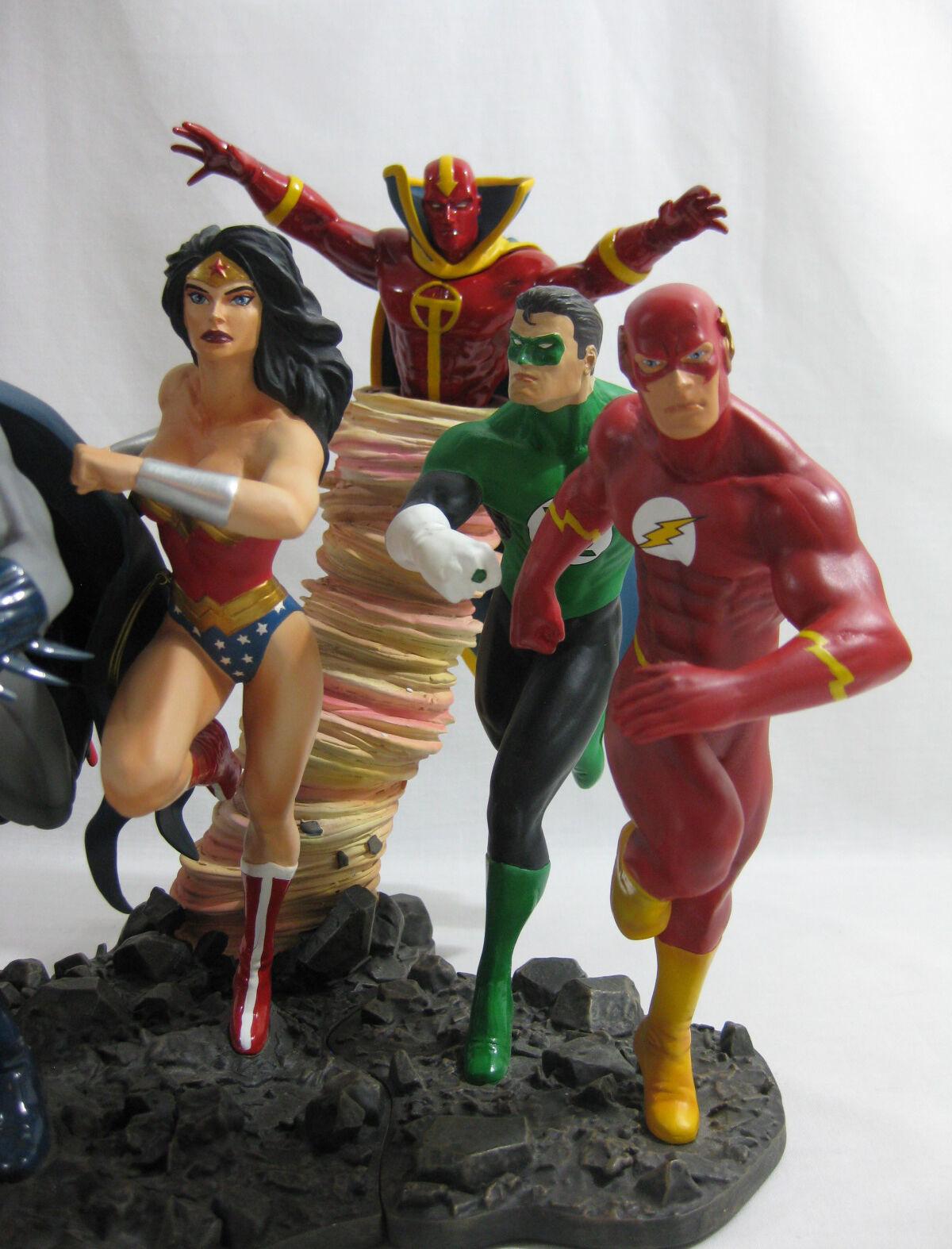 2008 DC Direct Statue ✧ JUSTICE LEAGUE LEAGUE LEAGUE AMERICA ✧ Batman Superman Complete BOXED 0ee1d0