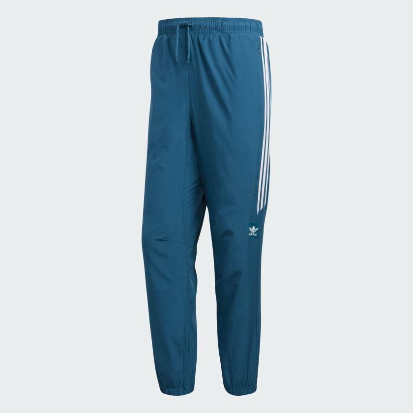 Brand New Mens Adidas Classic Wind Pants Real Teal White