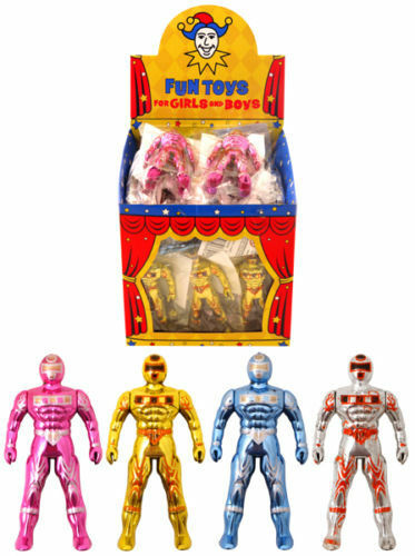 6x Super Fighter toys childrens party bag fillers christmas stocking gifts UK SE