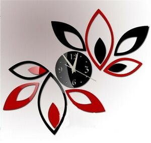 3D-Modern-Mirror-Wall-Clock-Lotus-DIY-Art-Acrylic-Wall-Sticker-Decal-Home-Decor