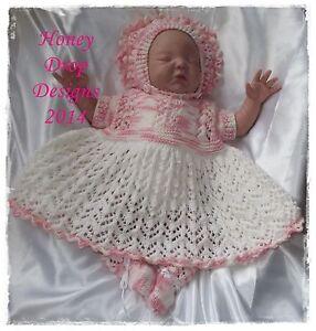 d27910bc4 Honeydropdesigns   Blossom   PAPER KNITTING PATTERN   Reborn Baby 0 ...