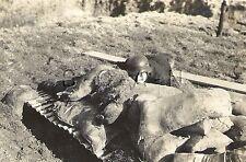 WWII German RP- Luftwaffe Soldier Climbs Out of Bunker Wall- Helmet- Sandbags
