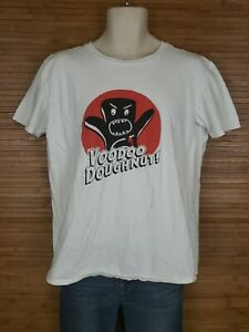 Voodoo-Donut-White-Graphic-T-Shirt-Mens-Size-Medium-M