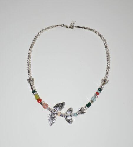 Collar de cordon cuero-collar cola de pez-plateado-collar uno no de 50 estilo