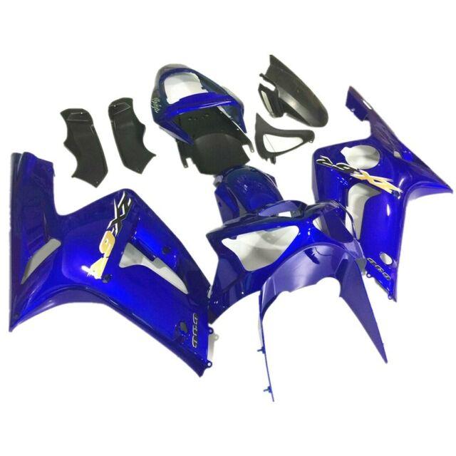 Fit Kawasaki Ninja ZX6R ZX636 2003-2004 Fairing Bodywork Set Blue/&Black