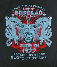 Official House of Blues Mens Black 1977 Tokyo Japan Band T-Shirt - Large
