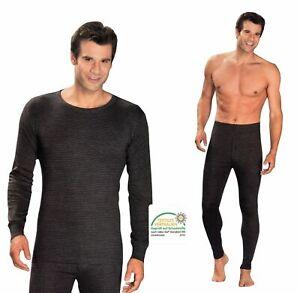Herren-Thermo-Unterwaesche-lange-Unterhose-Thermo-Shirt-Ski-Winter-Unterhemd-warm