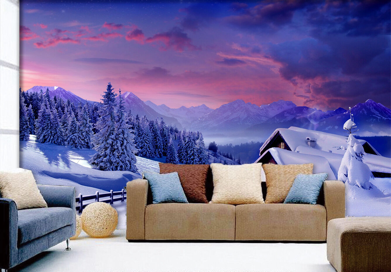 3D Sky Tree Snow 835 Wallpaper Mural Paper Wall Print Wallpaper Murals UK