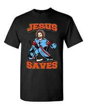 item 8 New Jesus Saves Hockey Puck Sports Jersey Funny DT Adult T-Shirt Tee  -New Jesus Saves Hockey Puck Sports Jersey Funny DT Adult T-Shirt Tee 1d2cf623e