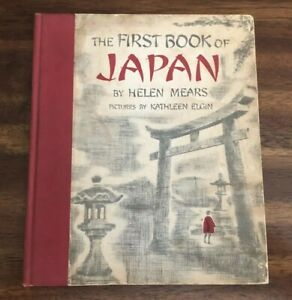 The-First-Book-of-Japan-by-Helen-Mears-1959-Vintage-Hardcover-Illustrated