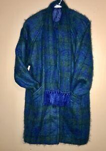 Vintage-Designer-Red-Mohair-Wool-Mix-Irish-Donegal-Tweed-Coat-Size-10-12-14