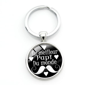 """Porte-Clé /""""Meilleur Papi du Monde/"""" Cadeau Fête des Grands-Pères"""