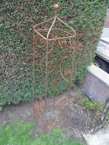 grimpe plantes, obélisque décoration de jardin en fer forgé plein ...
