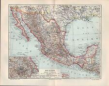 Mapa Map 1906: méxico. golfo de méxico latín-América sonora enCoahuila Duran