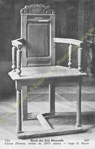 Postcard-Arts-Decorative-Furniture-Chaise-Period-XVI-Edit-ND-382