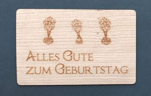 Grußkarte aus Holz Geburtstag Karte Alles Gute zum Geburtstag Geschenke Geschenk
