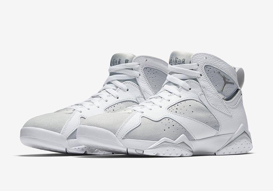 Nike air jordan jordan jordan 7 retro - 304775-120 reine geld weiße silbermetall mens größe. 8f2734