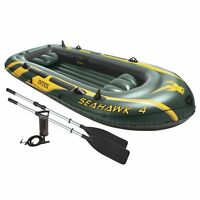 Intex Seahawk 4 Inflatable Boat Set With Oars And Air Pump   68351ep