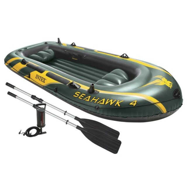 Inflatable Boat 4 Person Fishing Dinghy Raft Tender Oars Pump Accessories For Sale Online Ebay