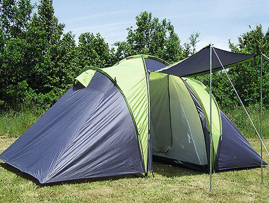 Zelt Zelt Zelt 4 Personen Familienzelt Explorer 2 Schlafkabinen Kuppelzelt Camping 6146bc
