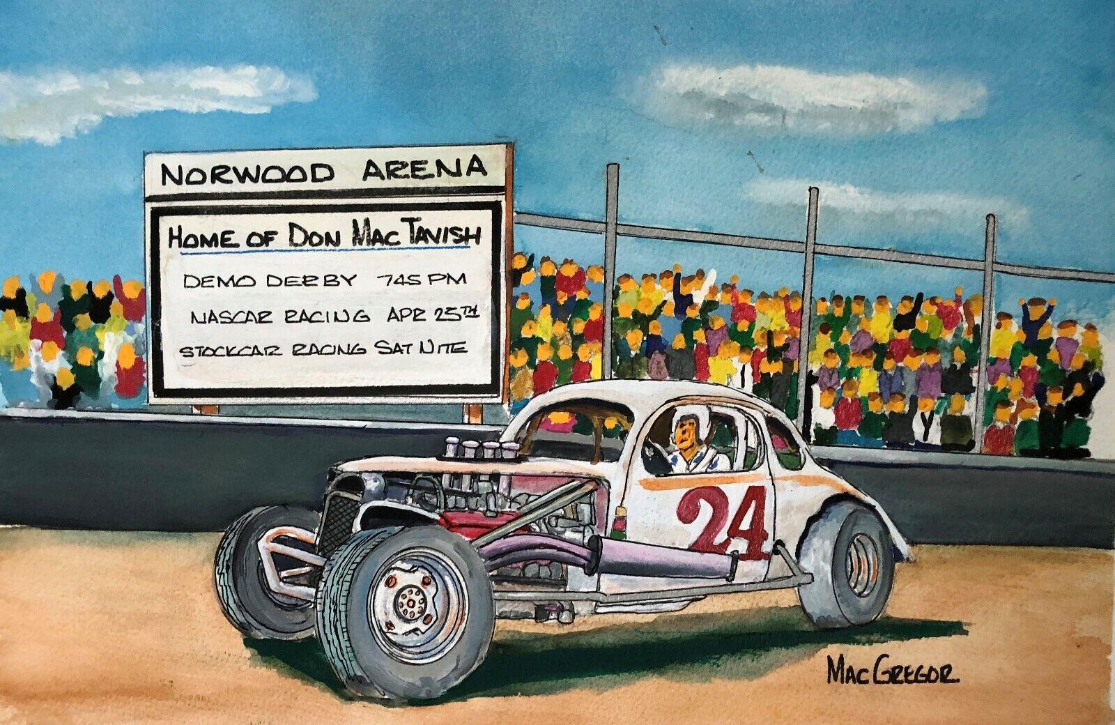 OLLIE SILVA driver 0 Art Print stockcar race short track modified racing nascar