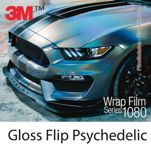20x30cm Folie Glanz Flip Psychedelic 3M 1080 Gp281 Vinyl Abdeckung Serien Wrap