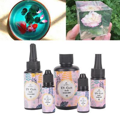 Transparent UV Resin Ultraviolet Solar Cure Activated DIY Ornament Craft D3S0