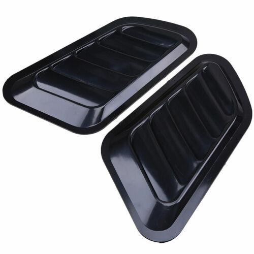 2 x Black Auto Car Decorative Air Flow Intake Scoop Turbo Bonnet Vent Cover Hood